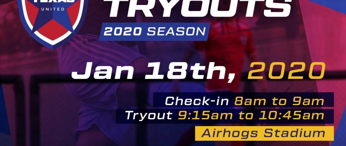 Texas United Announces The First Open Tryout of 2020