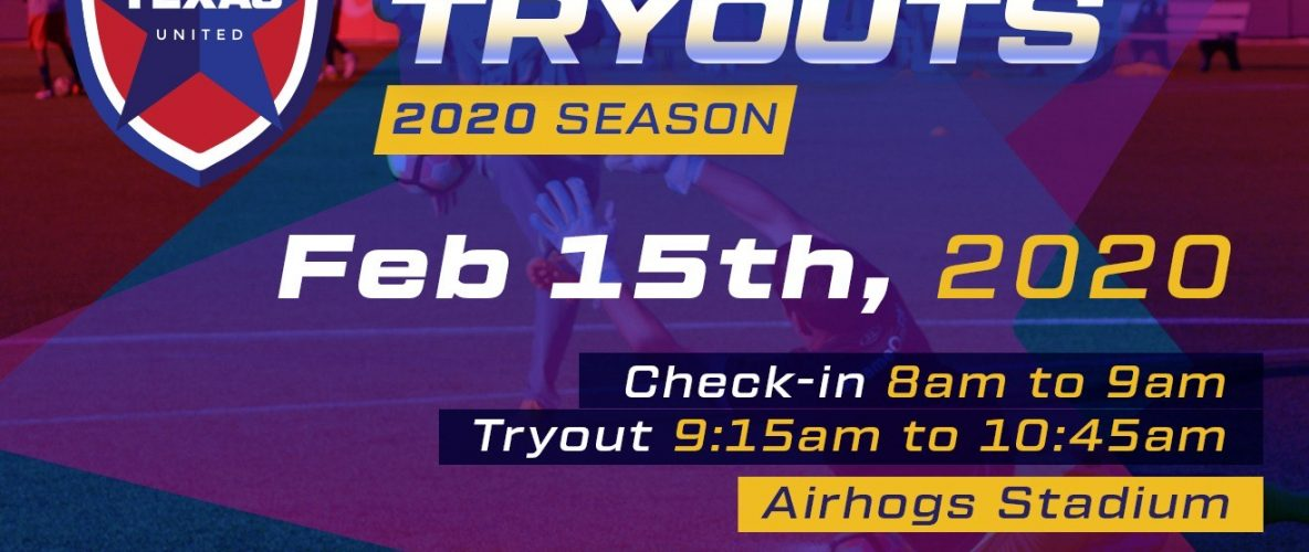 Texas United Announces The Second Open Tryout of 2020
