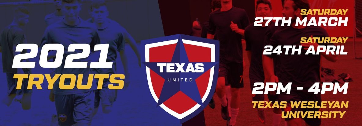 Texas United Announces 2021 Tryouts